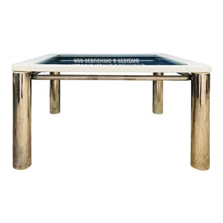 Vintage Mid Century Modern Tubular Chrome Table For Sale