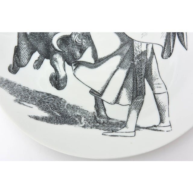 1950s 1950s Piero Fornasetti Porcelain Bullfight Plates - Set of 6 For Sale - Image 5 of 11