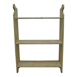 1880s Painted Pine Kitchen Shelf or Bucket Bench For Sale