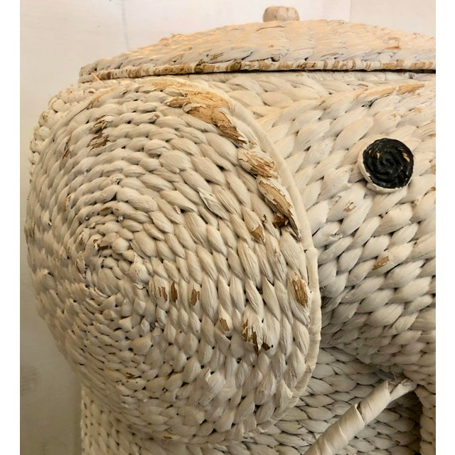 XL Elephant Basket With Lid For Sale - Image 9 of 11