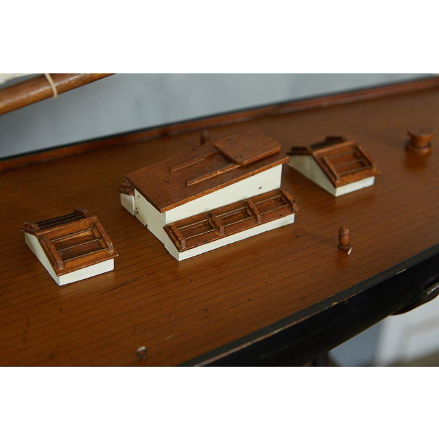 White Large Model Sailing Boat For Sale - Image 8 of 10