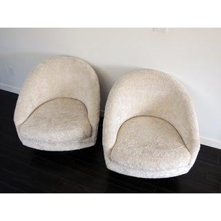 Mid Century Modern Adrian Pearsall for Craft Associates Barrel Swivel Lounge Chairs- A Pair Preview