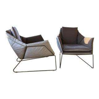 Modern Saba New York Arm Chairs- A Pair For Sale