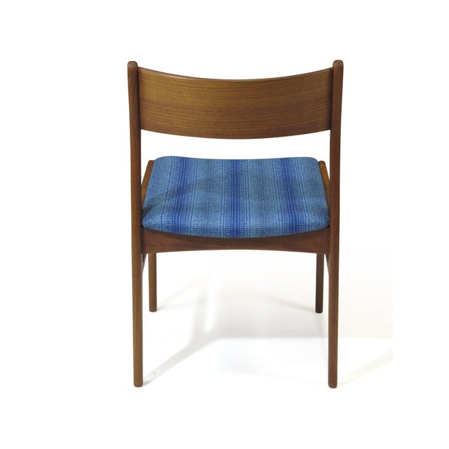 Blue Funder-Schmidt and Madsen Teak Dining Chairs in Blue Wool - Set of 6 For Sale - Image 8 of 11