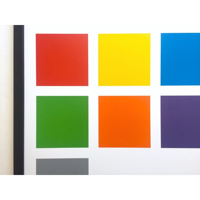 2010s Sol LeWitt Lithograph Print Josef Albers Museum Framed Minimalist Exhibition Poster For Sale - Image 5 of 13