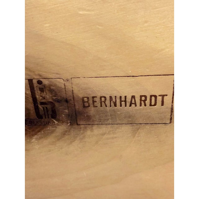 Wood Vintage Bernhardt Campaign Chest of Drawers With Mirror For Sale - Image 7 of 10