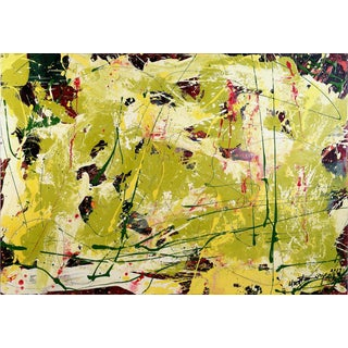 "Abstract ""Pattern With Green"" Painting by William Phelps Montgomery, 2019 For Sale"