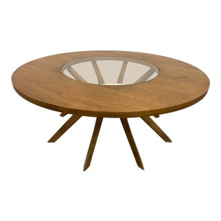 1960s Mid-Century Modern Broyhill Brasilia Cathedral Coffee Table For Sale