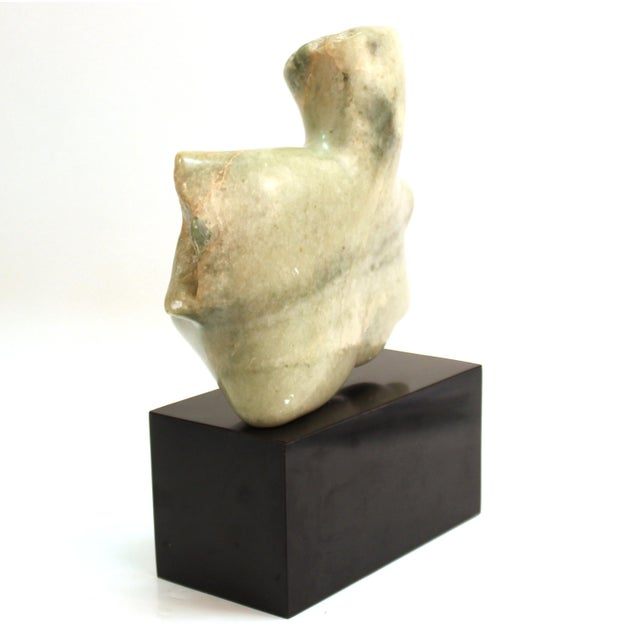 Mid 20th Century Mid-Century Modern Abstract Carved Stone Female Bust Sculpture For Sale - Image 5 of 11