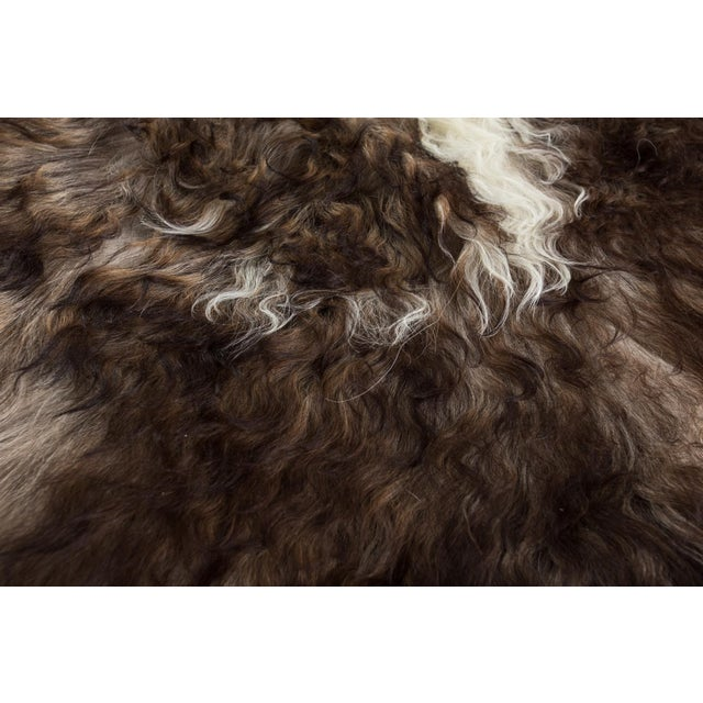 "Adirondack Contemporary Handmade Wool Sheepskin Pelt Rug -2'2""x3'2"" For Sale - Image 3 of 7"