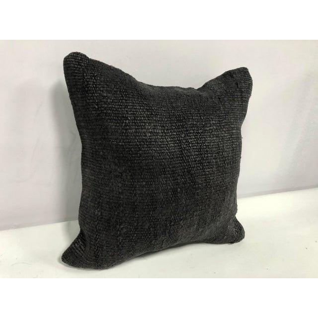 Turkish Turkish Anatolian Handmade Rustic Wool Kilim Pillow Cover For Sale - Image 3 of 6