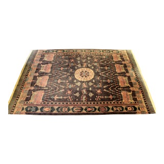 Antique Deco Chinese Wool Large Rectangular Area Rug Carpet For Sale