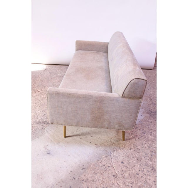 Mid-Century Modern Edward Wormley for Dunbar Sofa With Brass Feet For Sale - Image 3 of 13