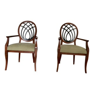 Hepplewhite-Style Host Chairs - a Pair For Sale