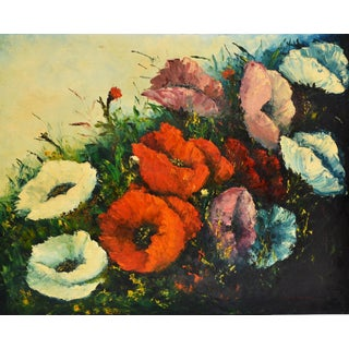 Jack Hammell Flowers Oil Painting For Sale