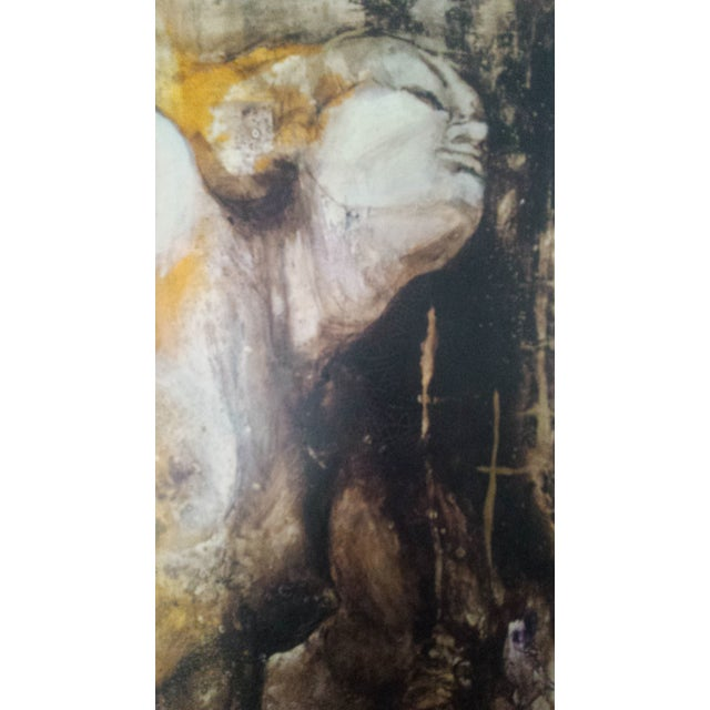 Modern Art Original Acrylic Painting of a Nude Female - Image 3 of 6