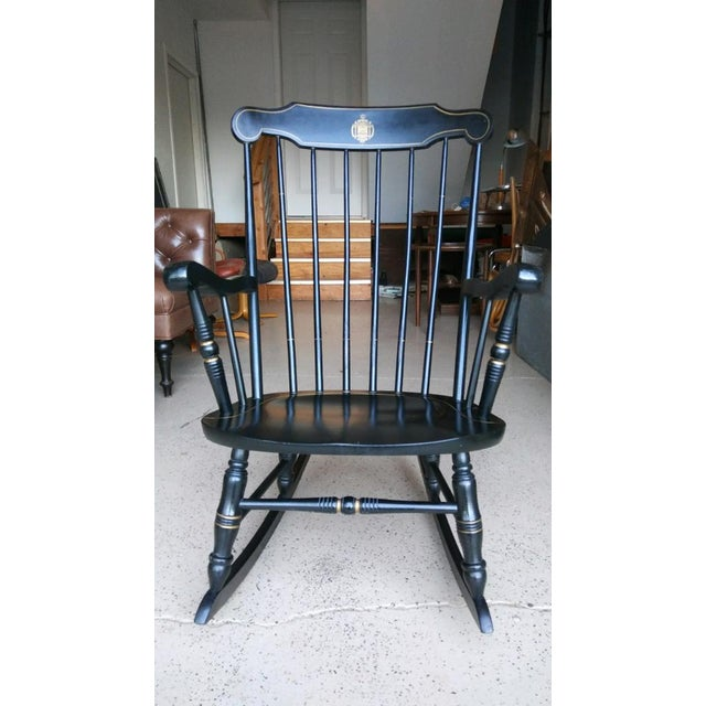 Enjoyable U S Naval Academy Captains Wood Rocking Chair Dailytribune Chair Design For Home Dailytribuneorg