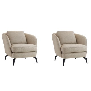 Modern Caracole Morris Chairs- A Pair For Sale