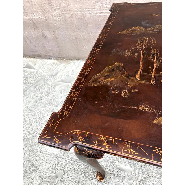 Asian Chinoiserie Center or Games Table For Sale - Image 3 of 5