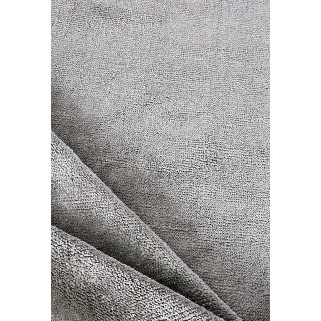 2020s Exquisite Rugs Milton Hand Loom Viscose Light Silver - 6'x9' For Sale - Image 5 of 8