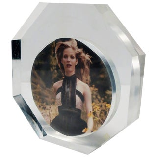 Italian Modern Lucite Octagonal Picture Frame For Sale
