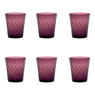Balloton Tumbler in Amethyst - Set of 6 For Sale