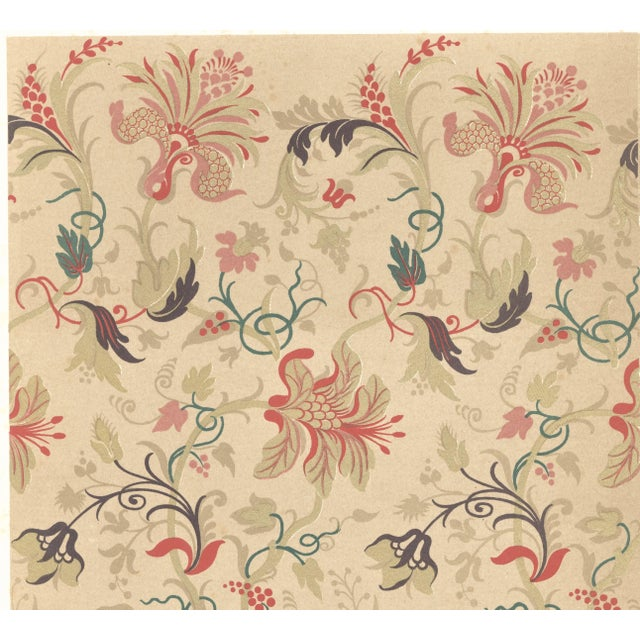 This is one of a group of vintage French textile design lithographs from Les Art Decoratifs, an unbound portfolio...