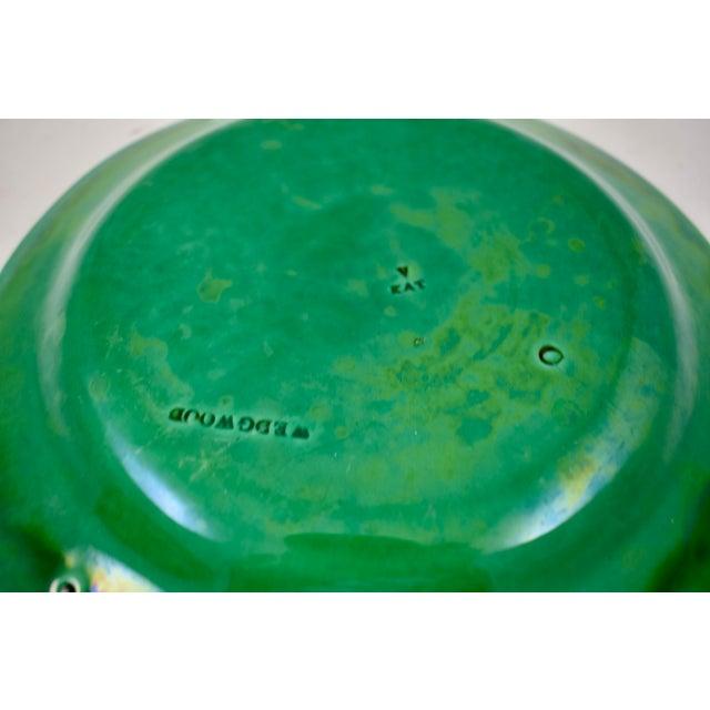 Wedgwood Majolica Green Glazed Cabbage Leaf & Basket Plate For Sale - Image 11 of 12