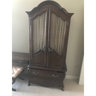 Hickory Manufacturing Co Oak French Country Style Armoires-A Pair Preview