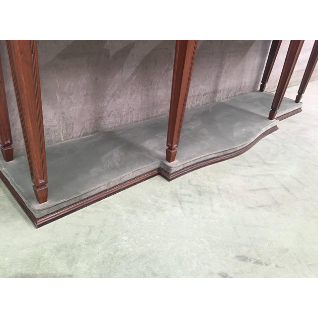 20th Century Louis XVI Style Neoclassical Console Table With Three Drawers For Sale - Image 10 of 13