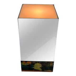 Small Illuminated Mirrored Pedestal For Sale