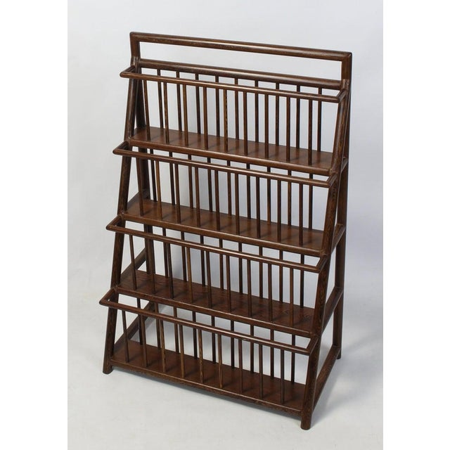 Wood Large and Unusual Mid-20th Century Magazine Rack For Sale - Image 7 of 9