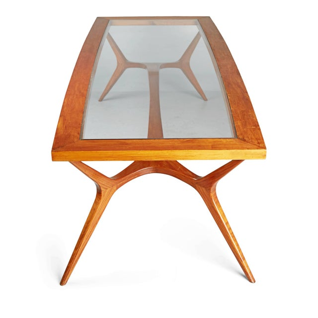 1950s Vintage Giuseppe Scapinelli Brazilian Sculptural Dining Table For Sale - Image 9 of 11