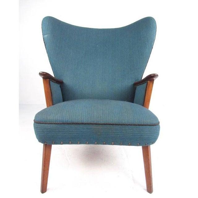 Mid-Century Modern Madsen & Schübel Pragh Wingback Lounge Chair For Sale - Image 3 of 9
