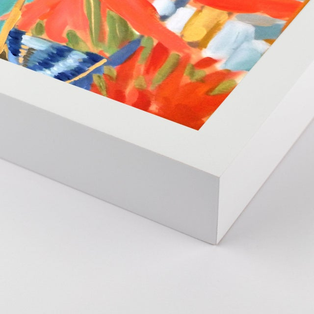 Contemporary Jungle 1 by Lulu DK in White Framed Paper, Large Art Print For Sale - Image 3 of 4