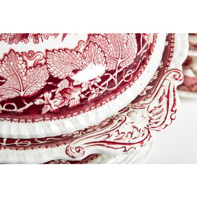 Red Mason's English Chinaware Svc for 12 People For Sale - Image 9 of 10