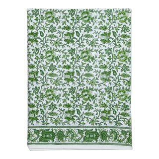 Aria Flat Sheet, King - Green For Sale