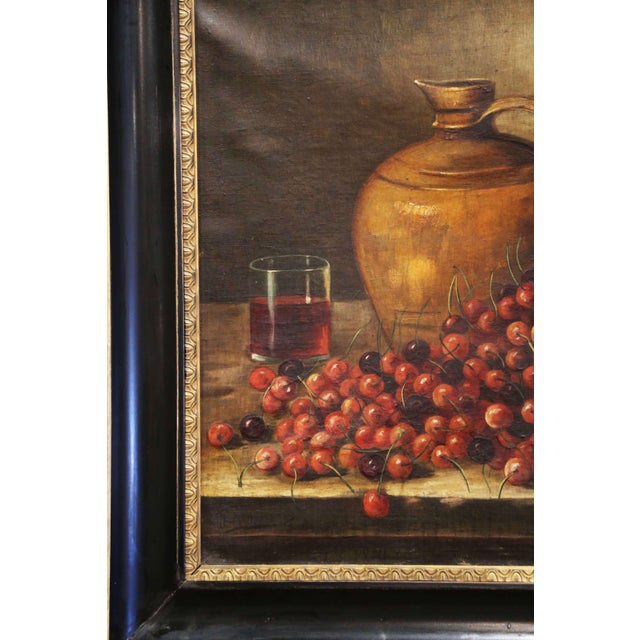 19th Century French Signed Oil on Canvas Painting in Carved Gilt Frame For Sale In Dallas - Image 6 of 11
