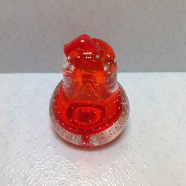 Alfredo Barbini Alfredo Barbini Glass Pear Paperweight For Sale - Image 4 of 8