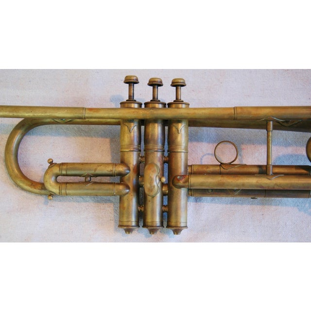 Antique Brass Trumpet Horn - Image 4 of 8