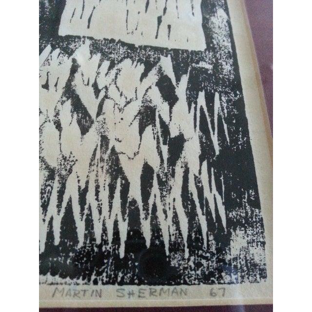 Vintage Artist Proof Wood Block Print - Image 3 of 5