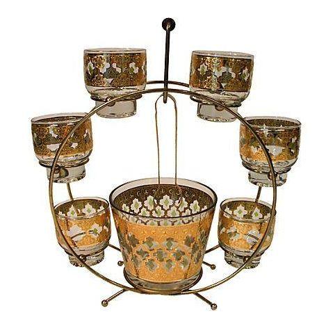 Vintage Culver Cocktail Set & Stand - Image 1 of 6