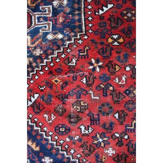 "Vintage Persian Shiraz Rug - 6' X 9'2"" - Image 9 of 9"
