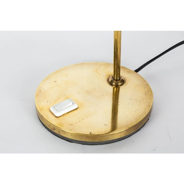 1950s 1950s Brass Table Lamp Attributed to Jacques Biny For Sale - Image 5 of 8
