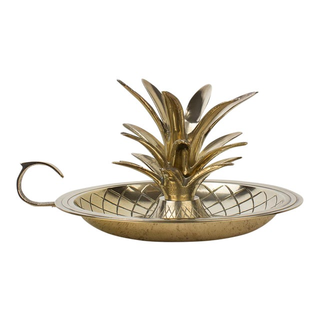 Brass Pineapple Candlestick Lamp Holder For Sale