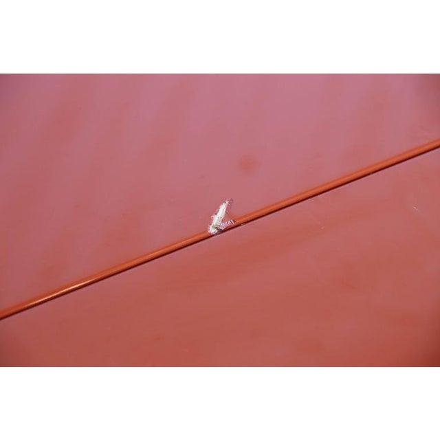 "Mid Century Modern Kazuhide Takahama Red Lacquered ""Antella"" Folding Console - Image 6 of 7"