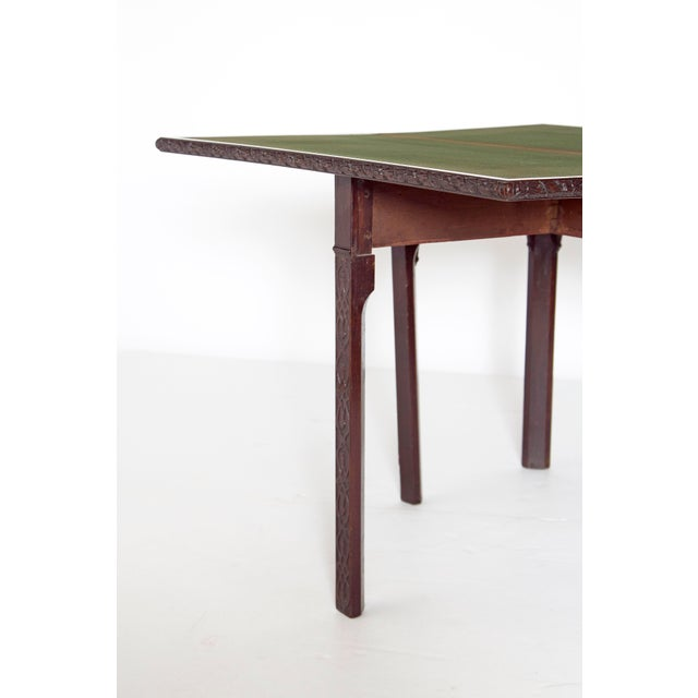 Felt Mid-18th Century Early George III Mahogany Card Table For Sale - Image 7 of 13