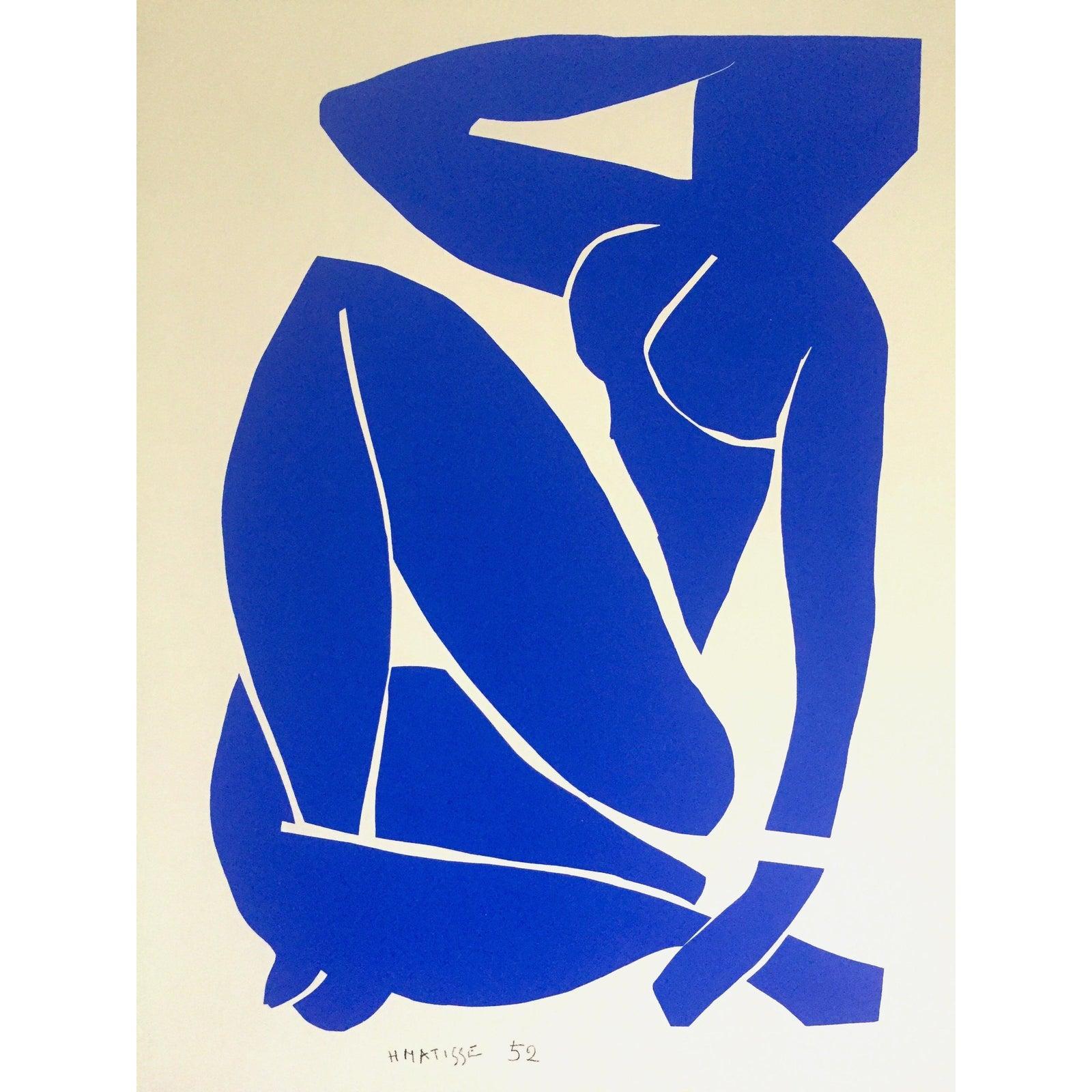 Henri Matisse Rare Vintage 1991 Modernist Lithograph Print