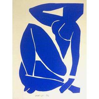 "Henri Matisse Rare Vintage 1991 Modernist Lithograph Print "" Nu Bleu III / Blue Nude "" 1952 For Sale"