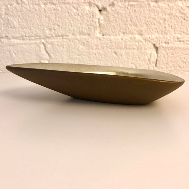 Green Mid-Century Rupert Deese Stoneware Triangular Ashtray For Sale - Image 8 of 11